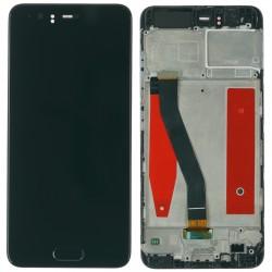 Huawei P10 Display Modul LCD Touchscreen + Rahmen, schwarz Online Shop - 1