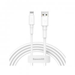 Baseus - Mini White USB für Lightning Kabel 1m 2.4A