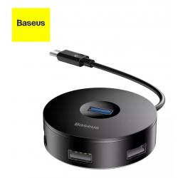 Baseus - Round Box HUB Adapter (Type C+USB A to USB 3.0*1 USB 2.0*3