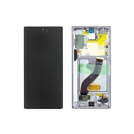 SAMSUNG GALAXY NOTE10 OBERSCHALE & LCD SILBER DISPLAY