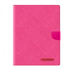 IPad 9.7 - Mercury Goospery Canvas Diary Geldbörse Tasche / Etui - Pink