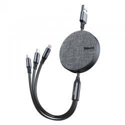 BASEUS - Fabric 3-in-1 Flexible kabel