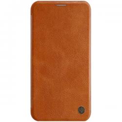 IPhone 11 Pro Max - Nillkin QIN Leather Flip Hülle, Braun