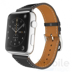 Apple Watch Leder Armband, Schwarz