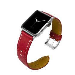 Apple Watch Leder Armband, Rot