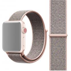 Simple Fashion Nylon Watch Strap for Apple Watch Series 5 & 4 44mm / 3 & 2 & 1 42mm, with Magic Stick(Dark Purple)