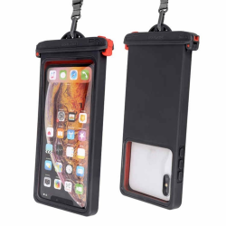 Smart Phones Below 6.9 Inch IPX8 Waterproof Phone Case(Black)