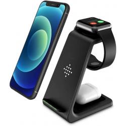 3 in 1 Wireless Charging Stand schwarz