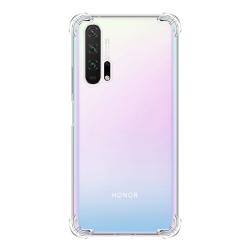For Huawei Honor 20 Pro Four-Corner Anti-Drop Ultra-Thin Transparent TPU Phone Case(Transparent)