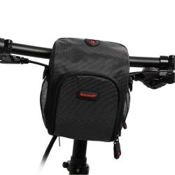 Rhinowalk Bicycle Front Handlebar Bag Multifunctional Shoulder Waterproof Mobile Phone Bag Cycling Riding Equipment Bag(Black)