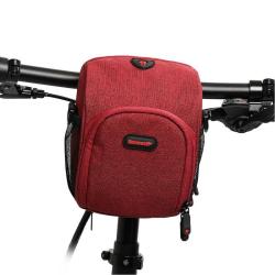 Rhinowalk Bicycle Front Handlebar Bag Multifunctional Shoulder Waterproof Mobile Phone Bag Cycling Riding Equipment Bag(Red)