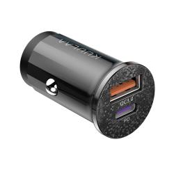 KUULAA KL-CD09 36W QC3.0 + PD Type-C / USB-C Mini Car Charger(Black)