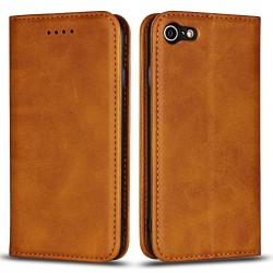 Handytasche / Etui für iPhone 7/8/SE 2 - hell Braun Online Shop - 1