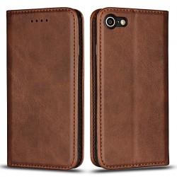 Handytasche / Etui für iPhone 7/8/SE 2 - dunkel Braun Online Shop - 1