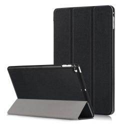 Custer Texture Leather Case for iPad Mini 2019 & Mini 4, with Three-folding Holder & Sleep / Wake-up Function (Black)