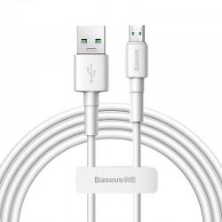 Baseus - Mini Weiss Kabel USB Für Micro 4A 1m, Weiss