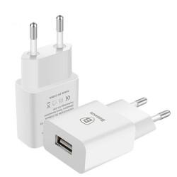 Baseus Letour Ladegerät EU USB Adapter 2.1A weiss Online Shop - 1