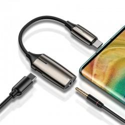 BASEUS 2 In 1-Typ-C-Stecker Auf Typ C Und 3,5 Mm Adapter L60 (Zink-Legierung + Beleuchtung) - Online Shop - 1