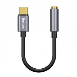 BASEUS L54 Typ C Stecker Auf 3,5 Mm Buchse Adapter Mit Kabel - Dunkelgrau Online Shop - 1