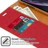 GALAXY NOTE 20 ULTRA - Mercury Goospery Canvas Diary Geldbörse Tasche / Etui - Rot