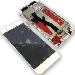Huawei P10 LCD-Display Weiss mit Rahmen, Touchscreen-Ersatz