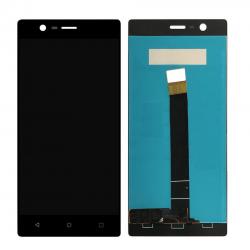 Nokia 3 LCD-Display, Schwarz, Touchscreen-Ersatz