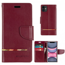 iPhone 11 - Mercury Goospery Persona Diary Geldbörse Tasche / Etui - Schwarz
