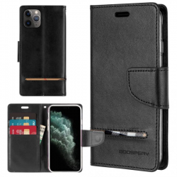 iPhone 11 Pro Max - Mercury Goospery Persona Diary Geldbörse Tasche / Etui - Navy - Dunkelblau